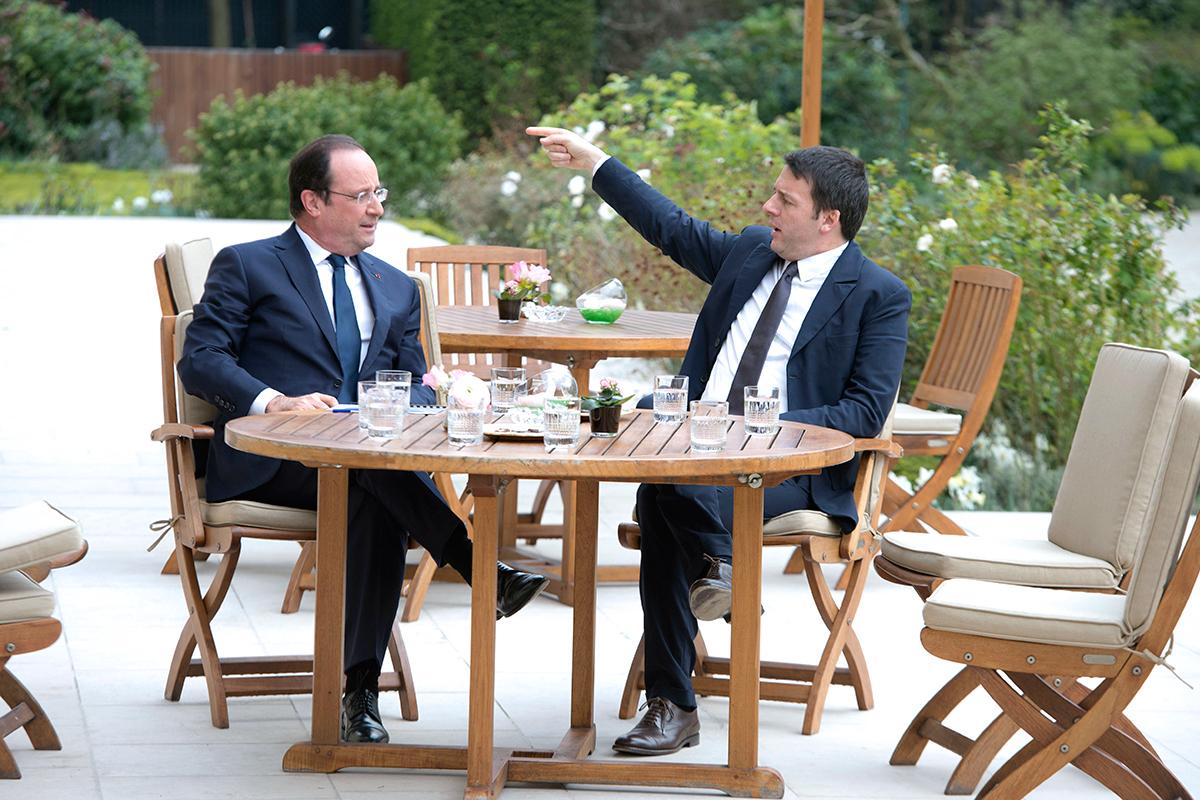 Pieropan La Rocca 2001 à la table de François Hollande et Matteo Renzi